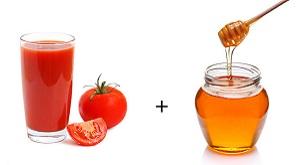 Мед и тоаматный сок