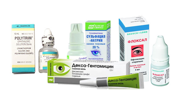 Капли от конъюнктивита с антибиотиком