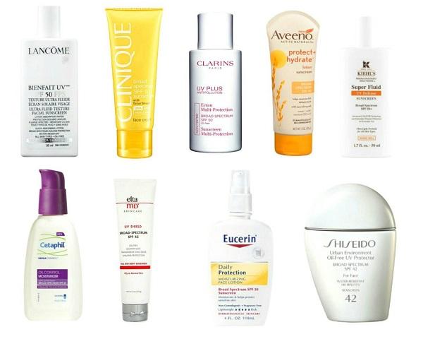 Солнцезащитные кремы для жирной кожи