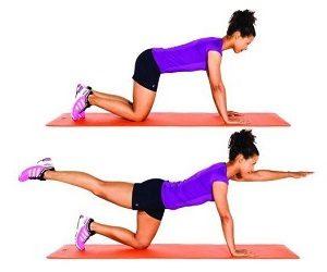 Упражнение подъем руки и ноги