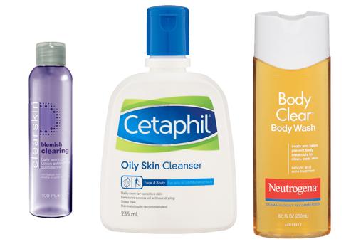Очищающие средства для тела с жирной кожей