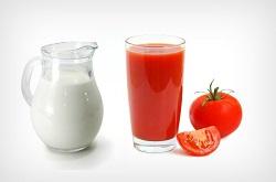 Томатный сок и кефир