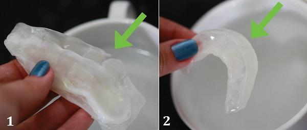 Капа для зубов из воска